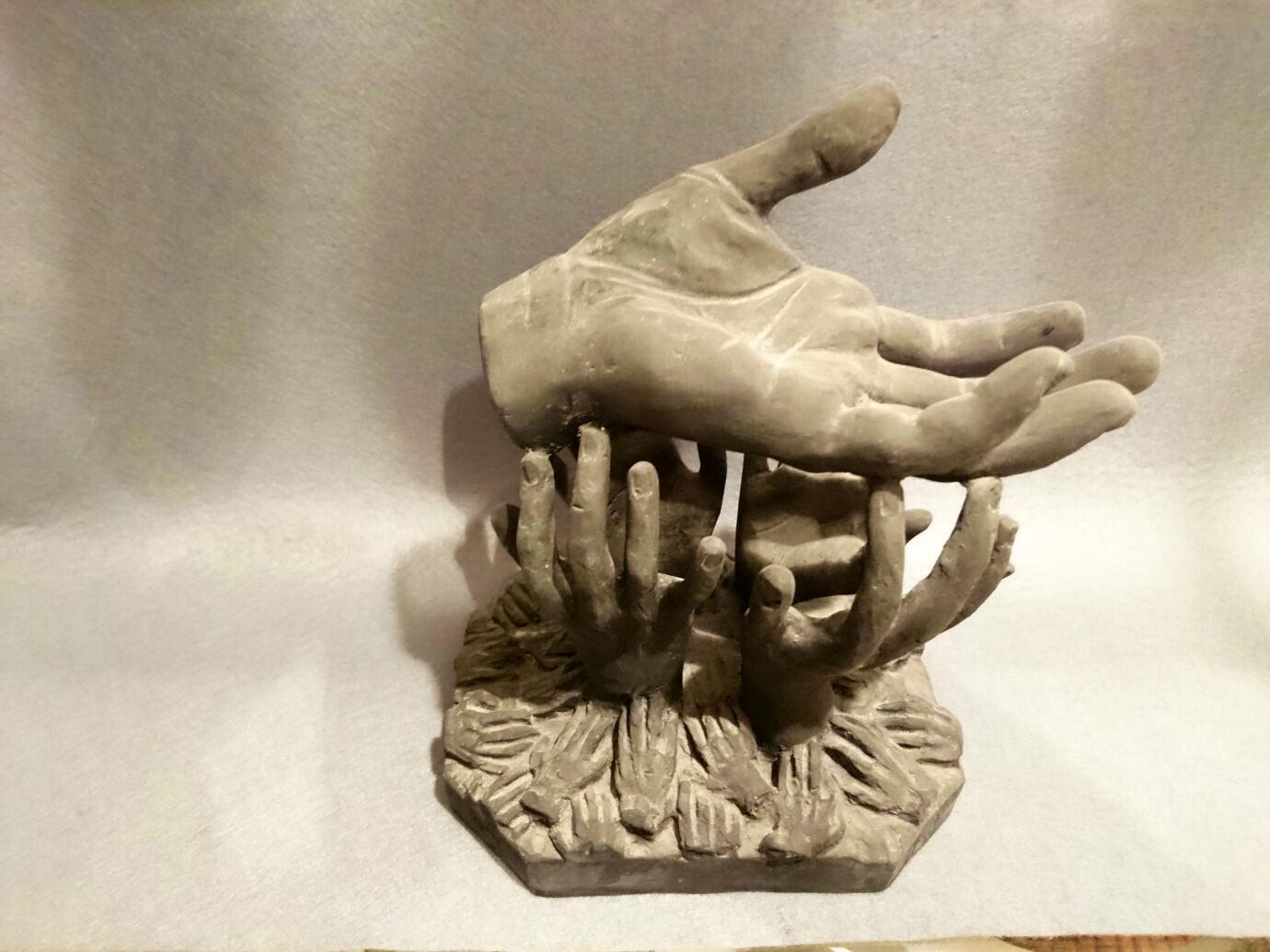 Esculturas y moldes numa premios