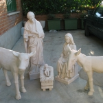 arte sacro nacimiento grande para decoración en exteriores