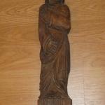 Arte sacro talla religiosa efecto madera envejecida