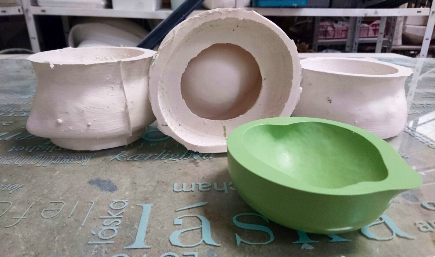 molde de cuenco para uso alimentario